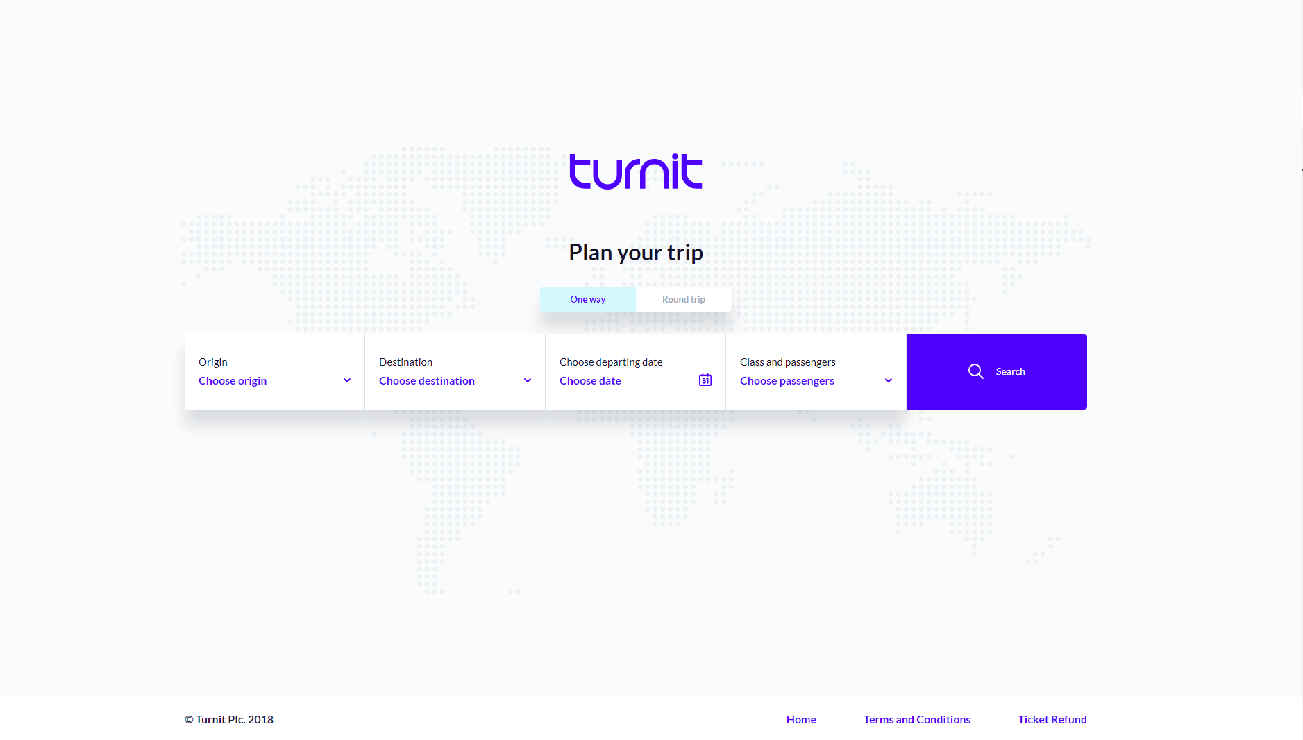 Turnit bus ticket reservation booking engine
