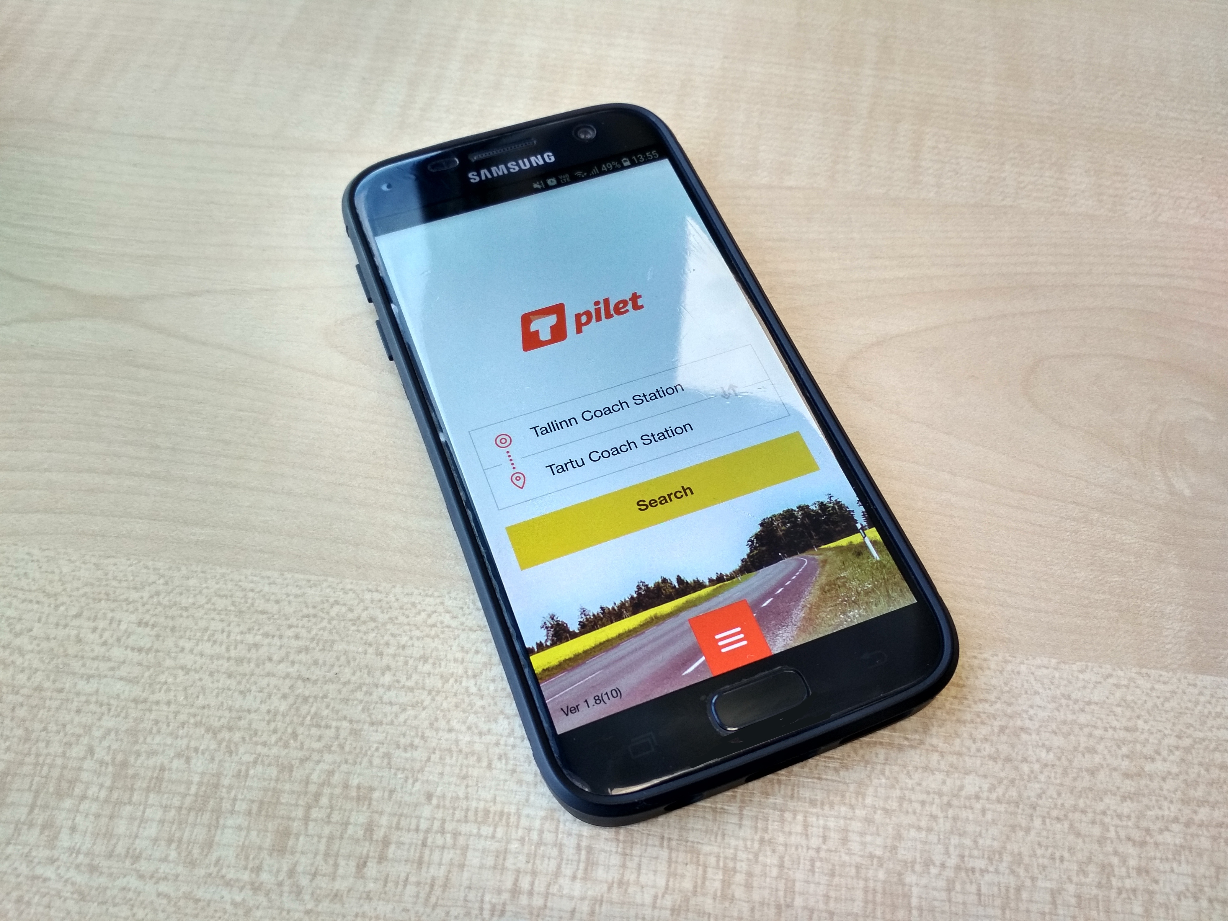 Native application for mobile bus ticket sales