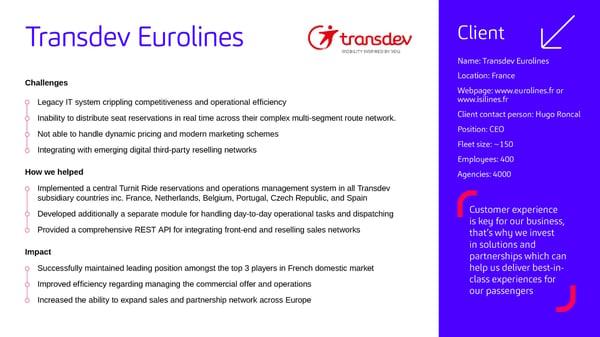 Transdev Case Study