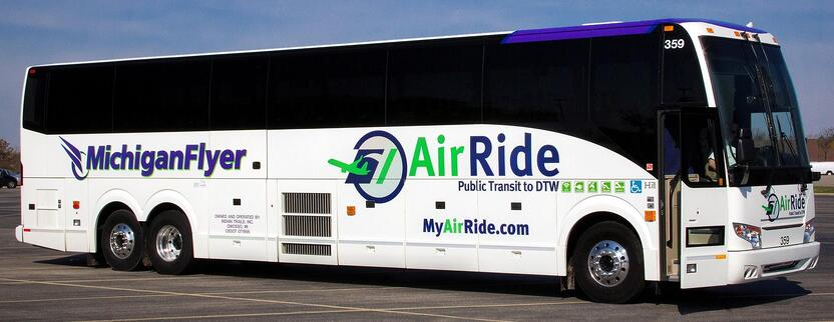 michigan flyer airport shuttle bus