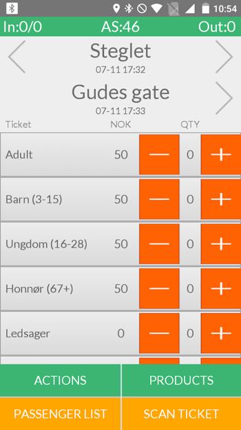 onboard ticket sales application